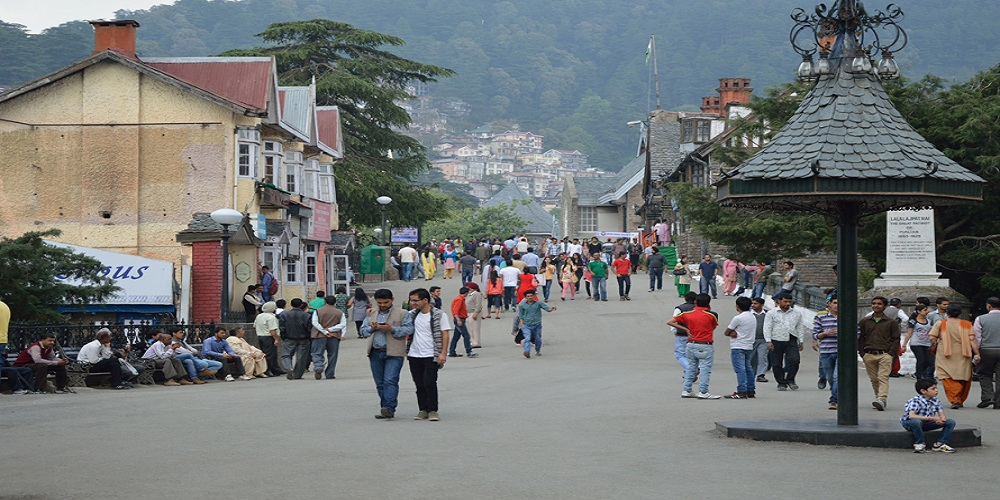 Mall Road in Shimla